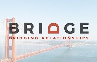 Bridge logo overlaying the Golden Gate bridge.
